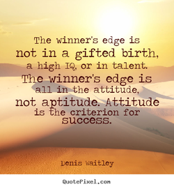 The winner's edge is 