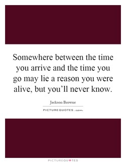Somewhere between the time 