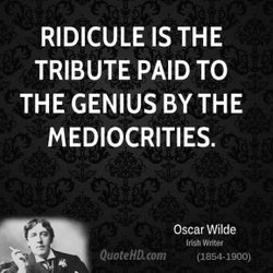 RIDICULE IS THE 