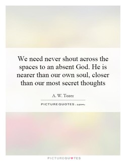 We need never shout across the 