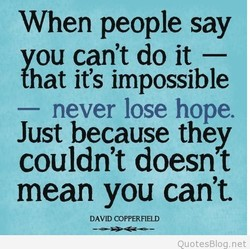 When people say 
