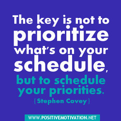 The key is not to 