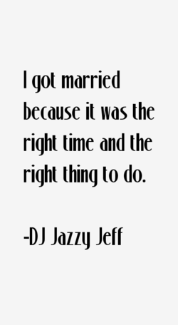 I got married 