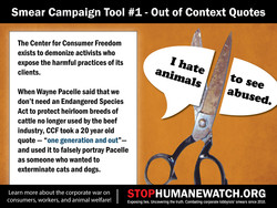 Smear Campaign Tool #1- Out of Context Quotes 