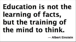Education is not the 