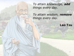 To attain knowledge, add 