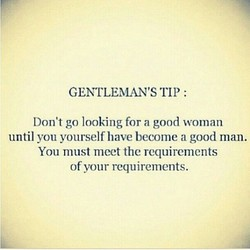 GENTLEMAN'S TIP : 