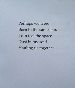 Perhaps we were 