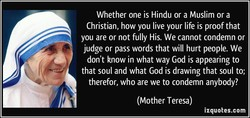 Whether one is Hindu or a Muslim or a 