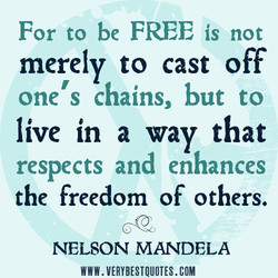 For to be FREE is not 