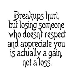 Breakups hurt, 