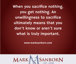 When you sacrifice nothing, 