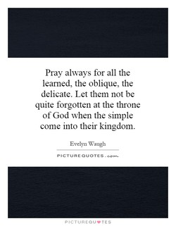 Pray always for all the 