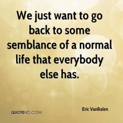We just want to go 