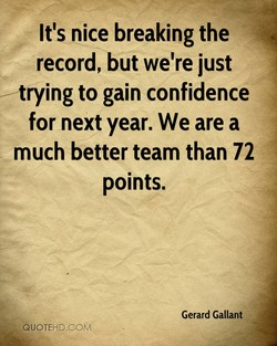 It's nice breaking the 