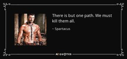 There is but one path. We must 
