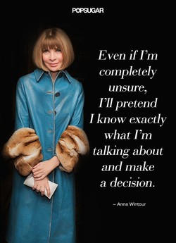 Even if I'm 