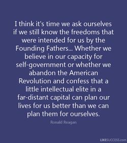 I think it's time we ask ourselves 
