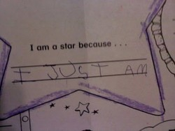 I om o star because .