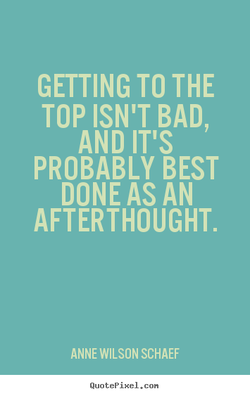 GETTING TO THE 