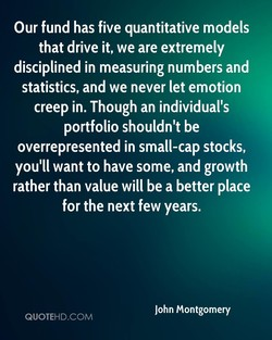 Our fund has five quantitative models 