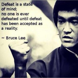 Defeat is a state 