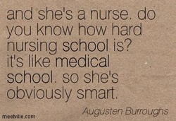 and she's a nurse. do 