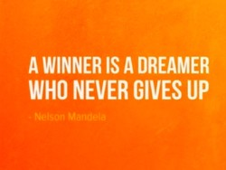 A WINNER IS A DREAMER 
