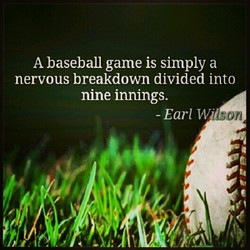 A baseball game is simply a 