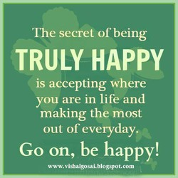 The secret of being 