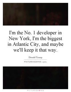 I'm the No. I developer in 