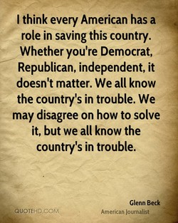 I think every American has a 