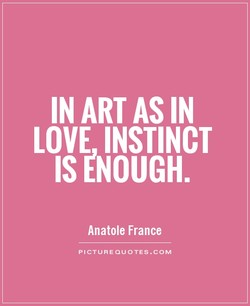 IN ART AS IN 