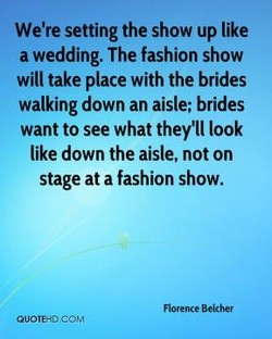 We're setting the show up like 
