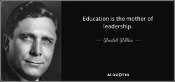 Education is the mother of