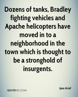 Dozens of tanks, Bradley 