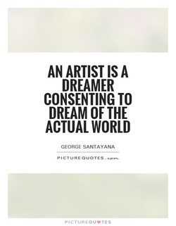 AN ARTIST IS A 