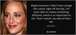 Maybe because I didn't have a huge 