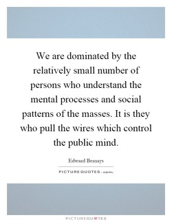 We are dominated by the 