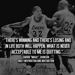 WINNING AND THERES LOSING AND 