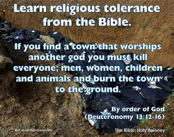 Learn religious tolerance 