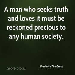 A man who seeks truth 