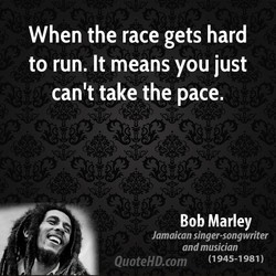 When the race gets hard 