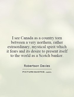I see Canada as a country torn 