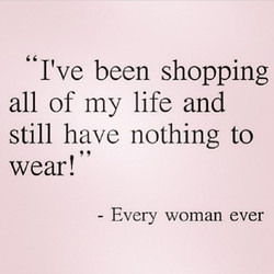 I've been shopping 