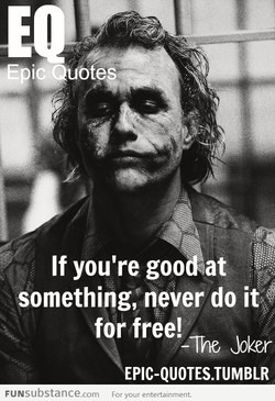 If you're goo 