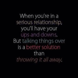 When you're in a 