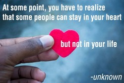 At some point, you have to realize 