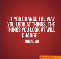 YOU CHANGE THE WAY 
