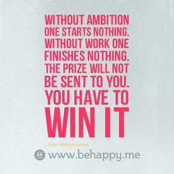 WITHOUT AMBITION 